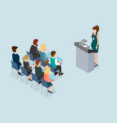 business lecture public speech coaching and vector image