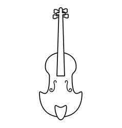 fiddle classical music instrument thin line vector image