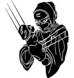 Ninja fighter - Vinyl-ready vector image