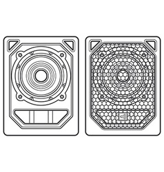 professional concert tour array subwoofer speakers vector image