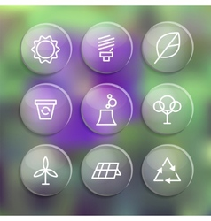 Set of linear style elements or icons labels and vector image vector image