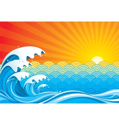 Surf Sun vector image vector image
