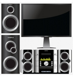 surround stereo system vector image vector image