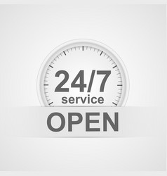 24 hours 7 days customer service icon vector image vector image