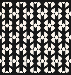 abstract geometric seamless elegant black pattern vector image