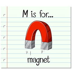 Alphabet M is for magnet vector image