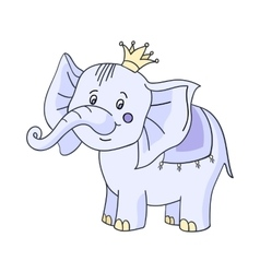 Baby elephant cartoon vector