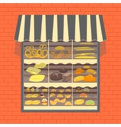 Bakery and Bread Products Showcase vector