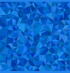Blue triangle tile mosaic background - polygon vector