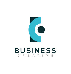 Business logo design letter c initial vector