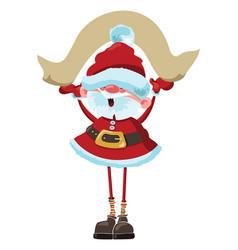 cartoon santa claus with a sheet of paper vector image