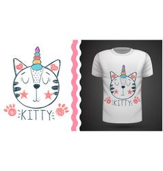 Caticorn unicorn - idea for print t-shirt vector