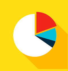 chart pie flat icon vector image