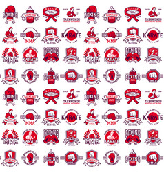 cool fighting club seamless pattern background vector image