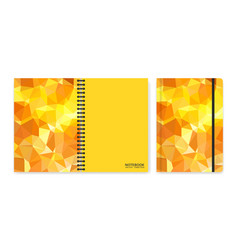 Cover design for notebooks or scrapbooks with vector