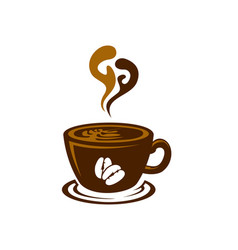 creative cafe logotype vector image