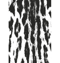 distressed overlay texture of natural fur vector image
