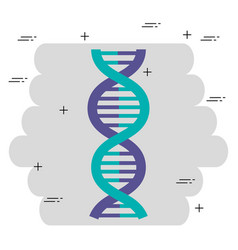 dna molecule structure icon vector image