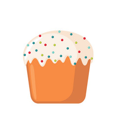 Easter cake icon in flat style vector