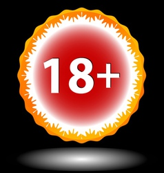 Eighteen plus icon vector