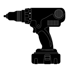 Electric drill Silhouette vector