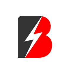 Electric flash power initial b lettermark symbol vector