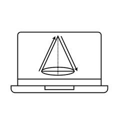 electronic learning with laptop vector image