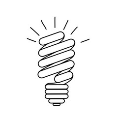 energy save bulb power icon vector image