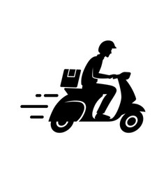 Express delivery concept delivery man riding vector