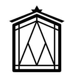 Fairy window frame icon simple black style vector