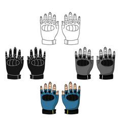 Fingerless gloves icon in cartoonblack style vector