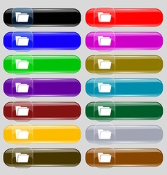 Folder icon sign Set from fourteen multi-colored vector