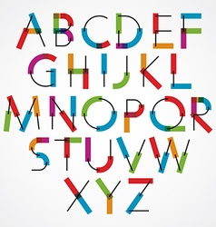 Funny cartoon constructive colorful font vector