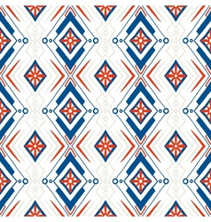 Geometric pattern with Scandinavian ethnic motifs vector
