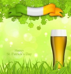 Glowing nature background for St Patricks Day vector