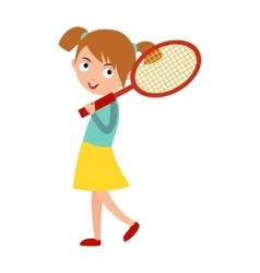 Good looking tennis player vector