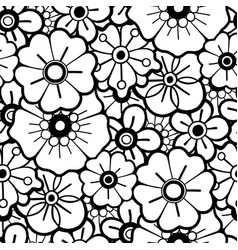 Graphic floral pattern vector