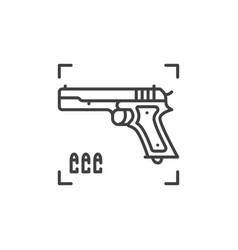gun concept icon in thin line style vector image