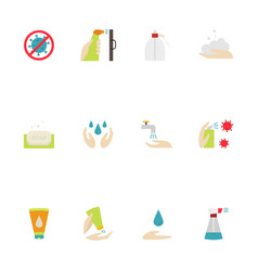 hygiene icon included icons as hand wash vector image