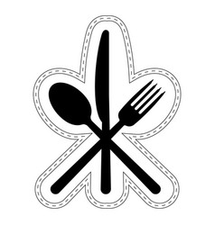 Icon cutlery restaurant catering icon vector