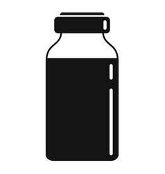 Insulin dose bottle icon simple style vector