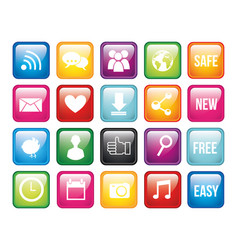 Isolated social media icon set design vector
