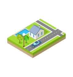 Isometric City Web Banner vector image