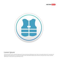 Life jacket - white circle button vector