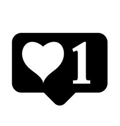 like icon on white background vector image