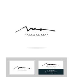 M a ma initial logo signature handwriting vector