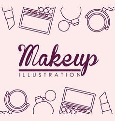 Makeup and cosmetics design vector