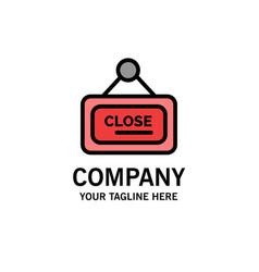 Marketing board sign close business logo template vector