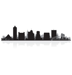 Memphis USA city skyline silhouette vector