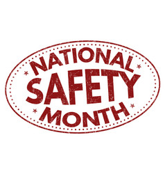 national safety month sign or stamp vector image